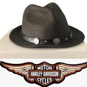 Harley-Davidson Fedora Straw Hat
